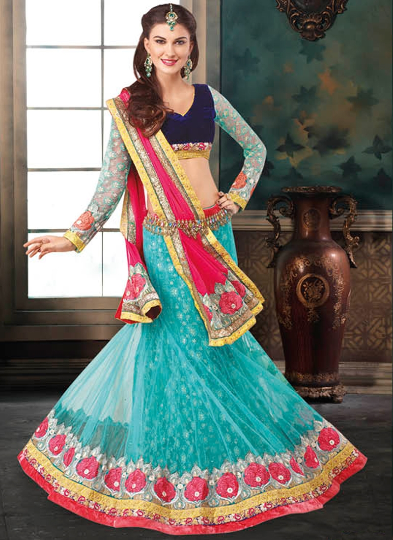 Captivating Patch And Lace Work Wedding Lehenga Choli