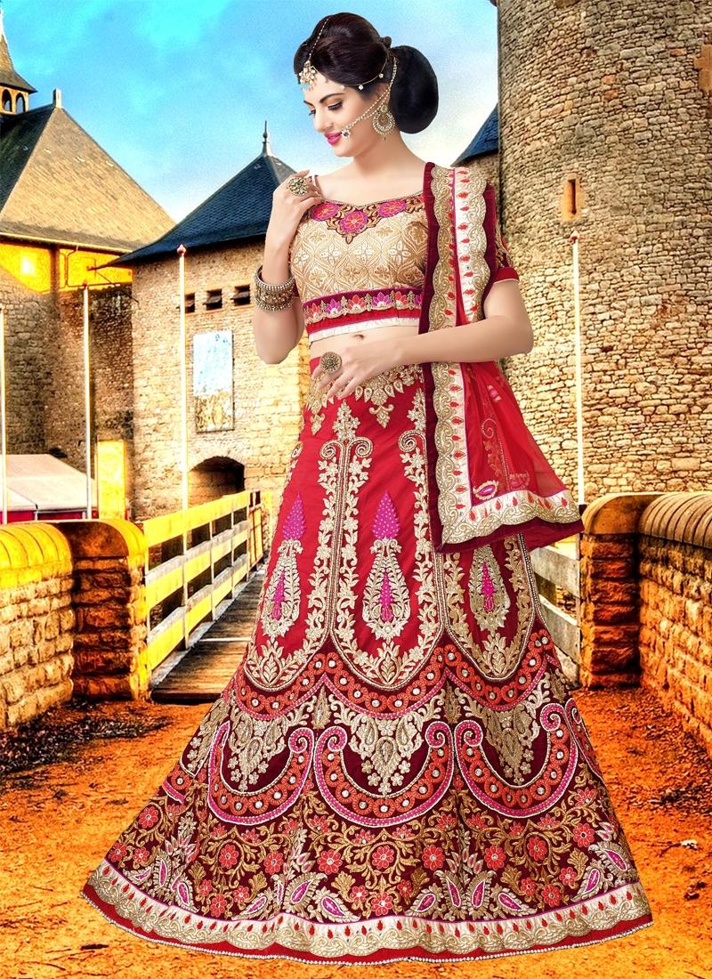 Captivating Stone Work Bridal Lehenga Choli