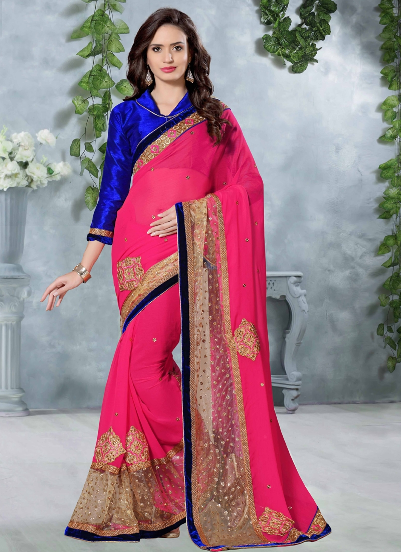 Catchy Booti Work Designer Saree