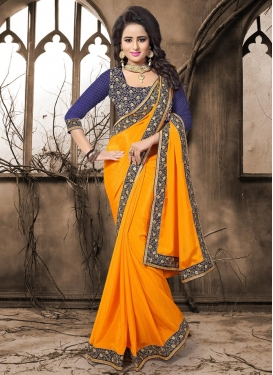 Catchy Classic Designer Saree For Festival