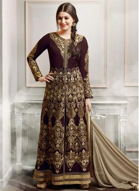 Catchy  Faux Georgette Booti Work Trendy Designer Salwar Kameez