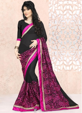 Catchy Faux Georgette Classic Saree
