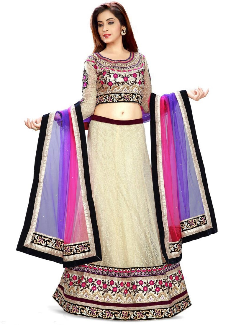 Catchy Kasab And Stone Work Designer Lehenga Choli