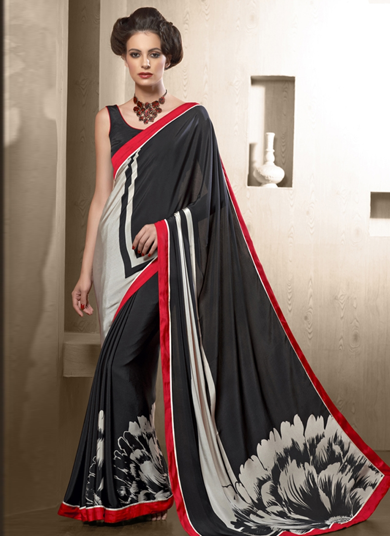 Catchy Lace Work Casual Saree
