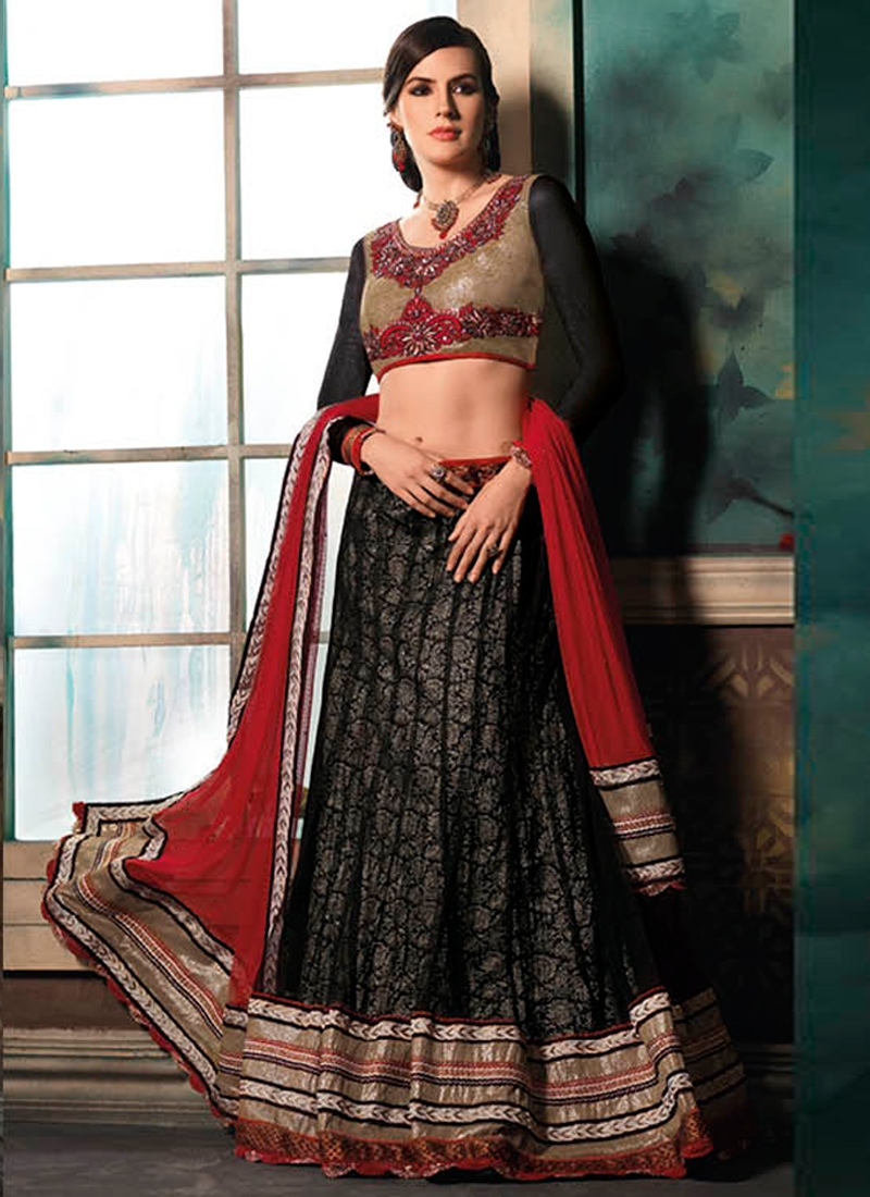 Catchy Patch Work Net Party Wear Lehenga Choli
