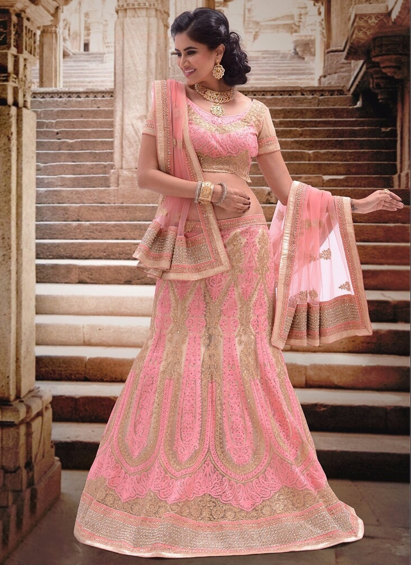 Catchy Stone Work Bridal Lehenga Choli