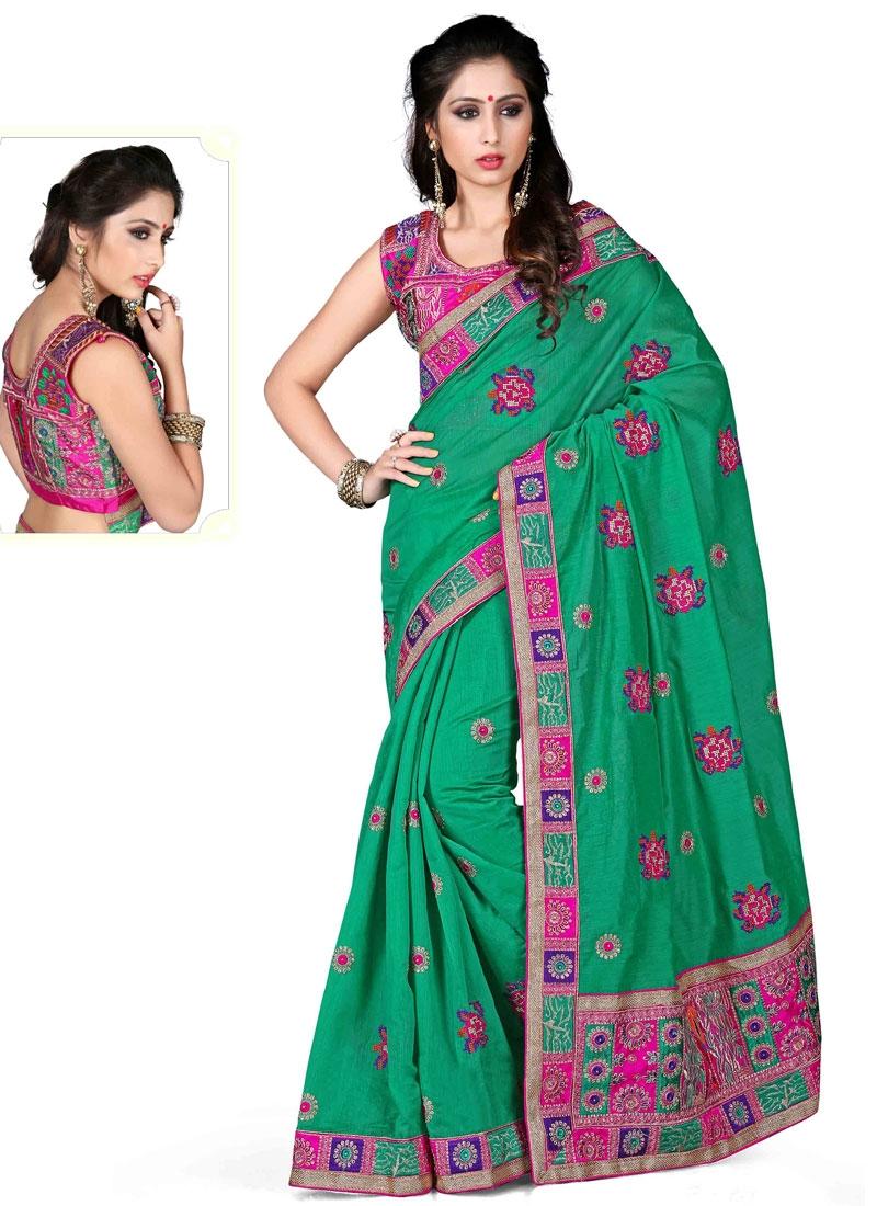 Celestial Booti Work Chanderi Silk Designer Saree