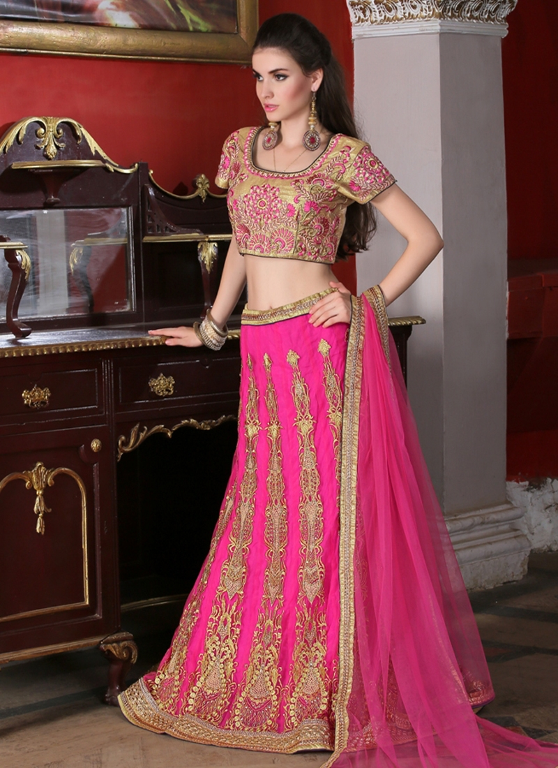 Celestial Booti Work Wedding Lehenga Choli