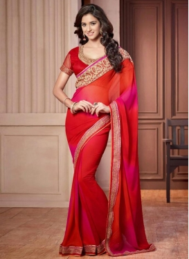 Celestial Embroidered Work Classic Saree For Ceremonial
