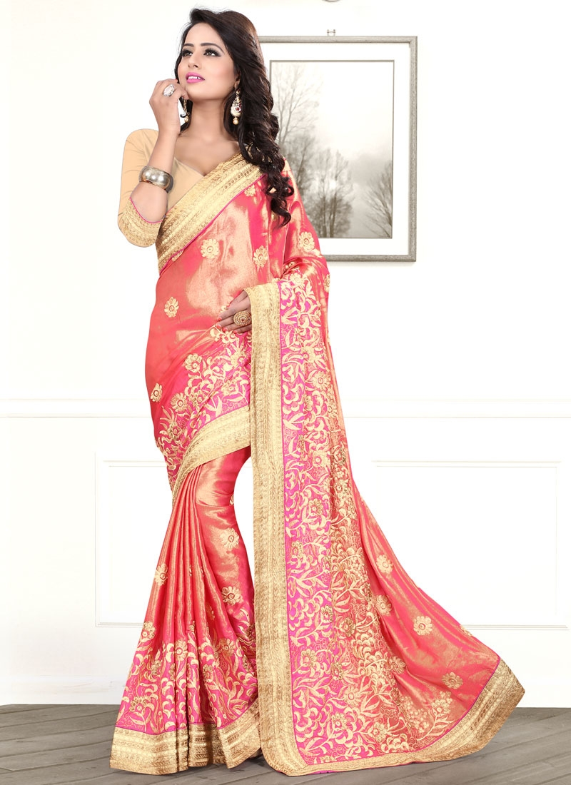 Celestial Embroidery And Stone Work Designer Saree