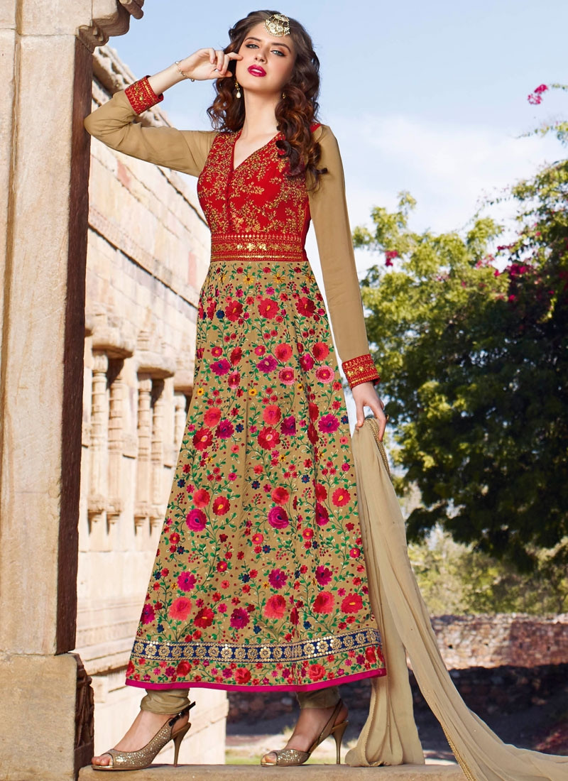 Celestial Floral Work Ankle Length Wedding Salwar Suit