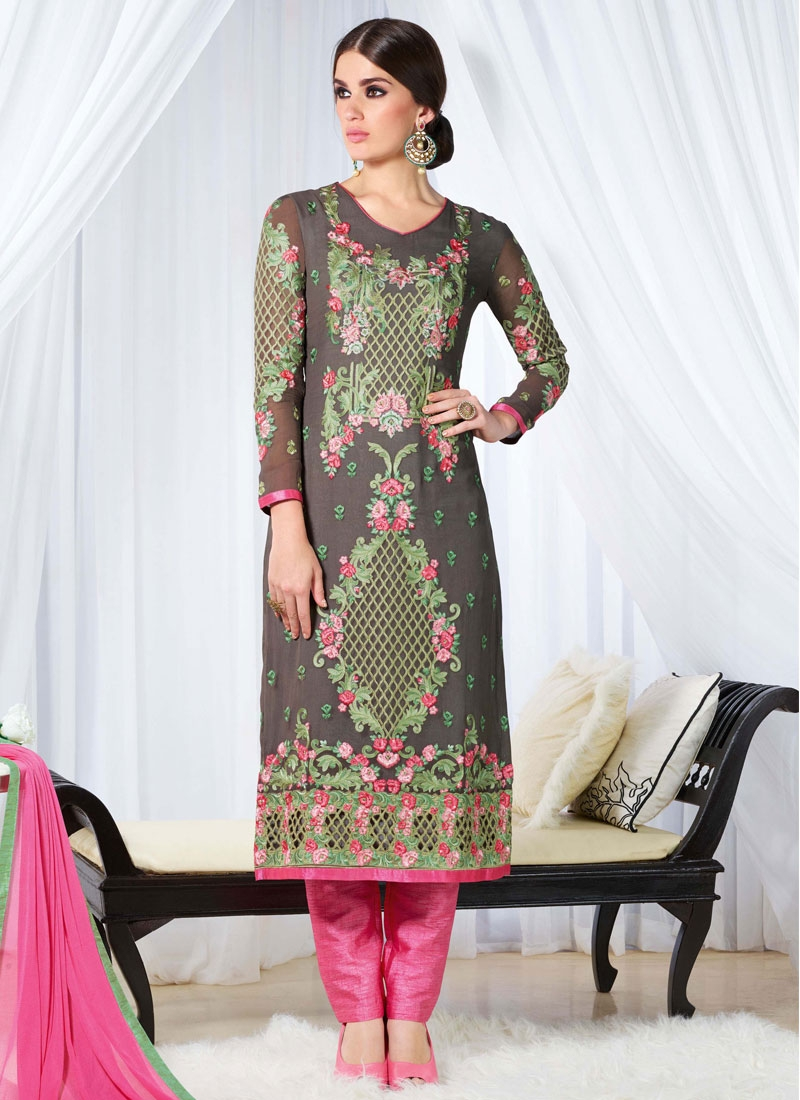 Celestial Floral Work Pant Style Party Wear Salwar Suit