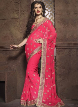 Celestial Lace And Stone Work Designer Saree