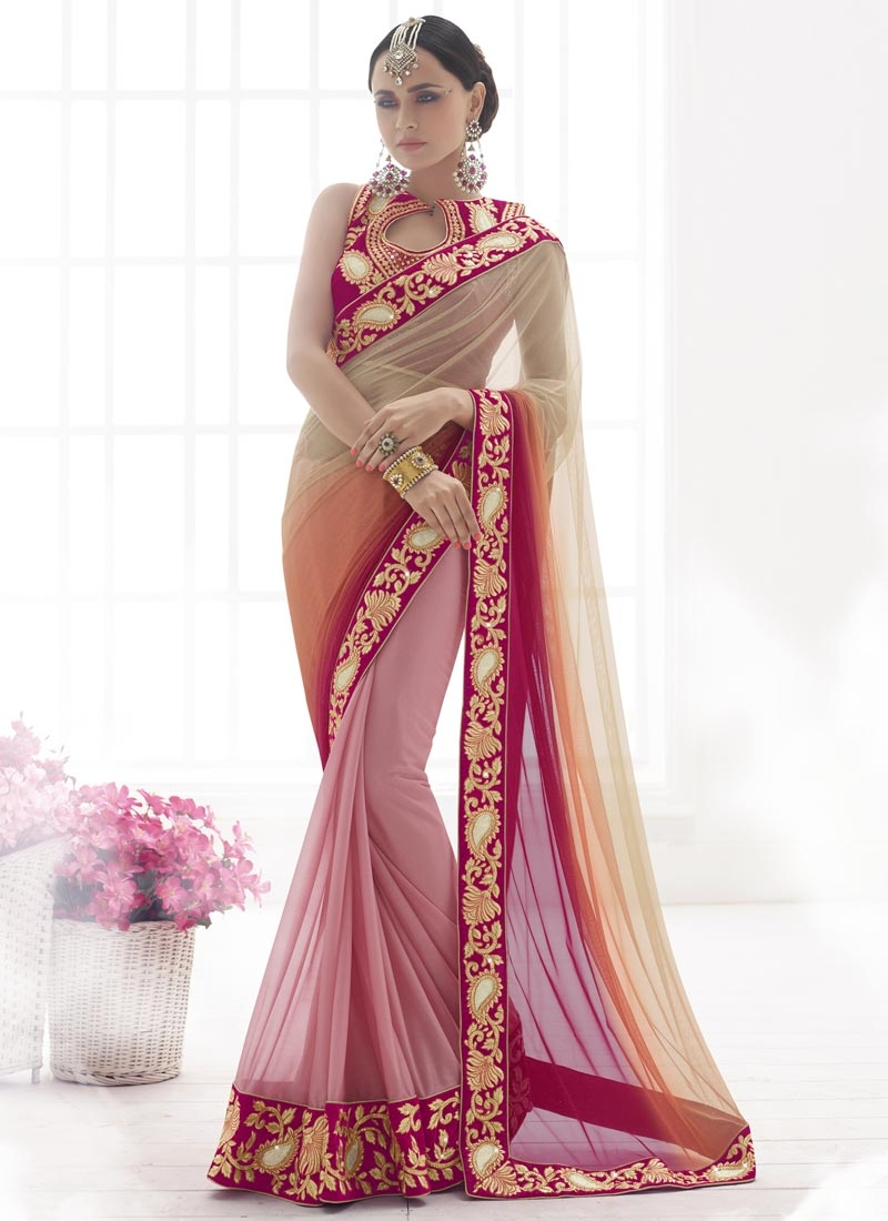 Celestial Patch Border Work Designer Saree