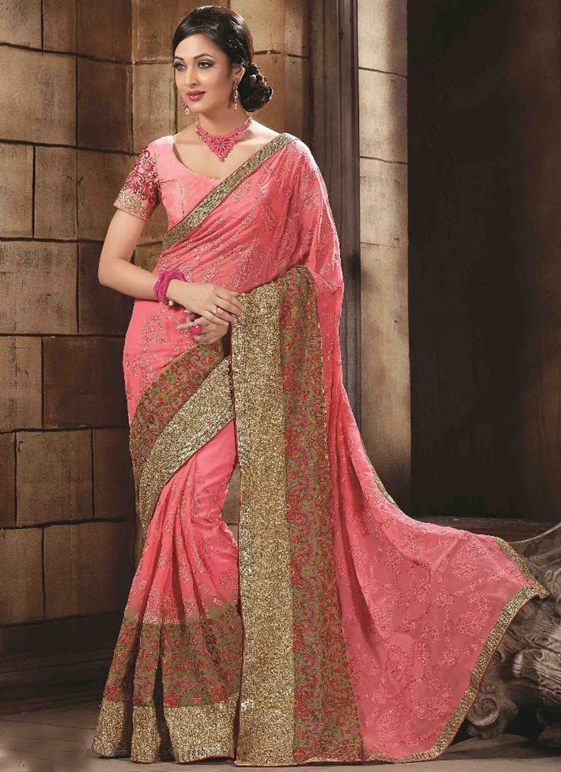 Celestial Sequins And Resham Work Wedding Saree