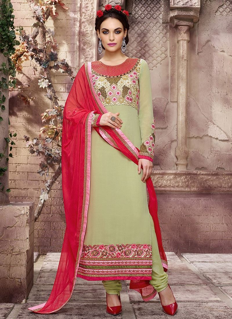Celestial Sequins Work Long Length Pakistani Salwar Kameez