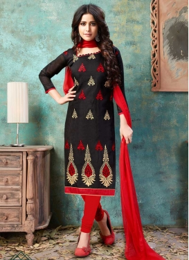 Chanderi Cotton Churidar Salwar Suit For Casual