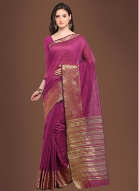 Chanderi Cotton Classic Saree For Casual