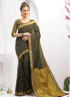 Chanderi Cotton Contemporary Saree For Ceremonial