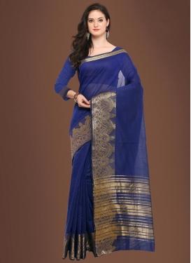 Chanderi Cotton Thread Work Traditional Saree