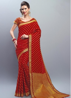 Chanderi Cotton Thread Work Trendy Classic Saree