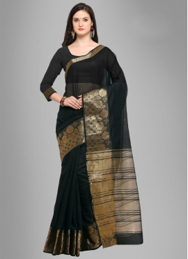 Chanderi Cotton Thread Work Trendy Saree