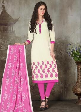 Chanderi Cotton Trendy Churidar Salwar Kameez