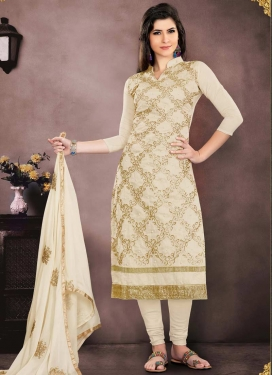 Chanderi Cotton Trendy Churidar Salwar Suit