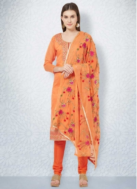 Chanderi Cotton Trendy Churidar Suit For Ceremonial