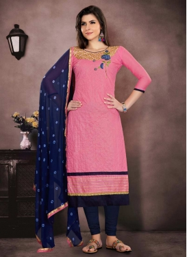 Chanderi Cotton Trendy Pakistani Salwar Kameez
