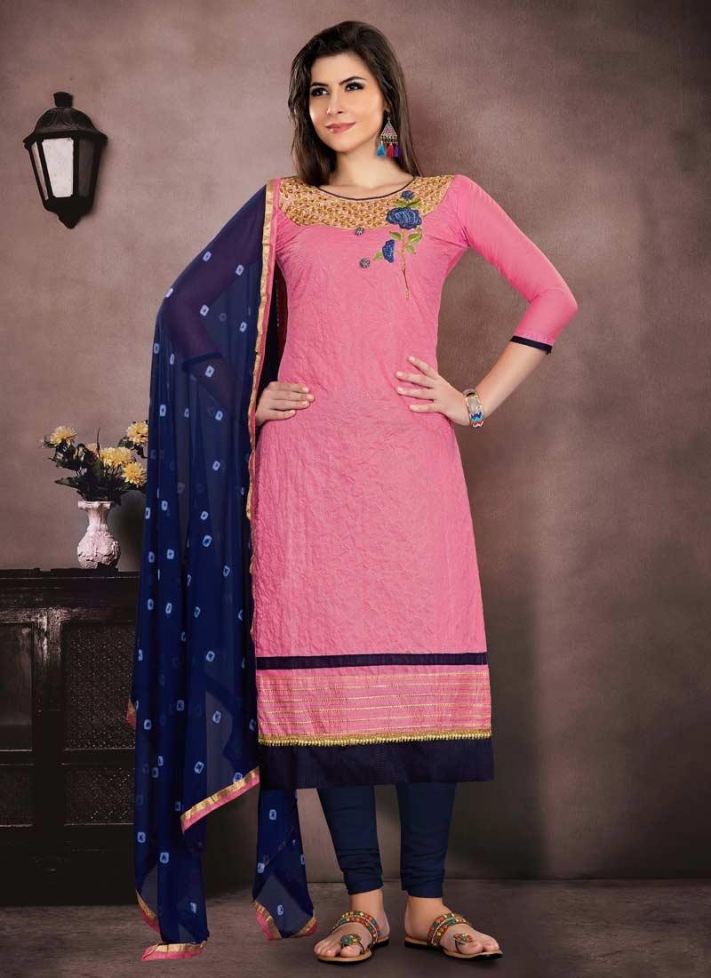 Chanderi Cotton Trendy Pakistani Salwar Kameez