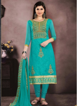 Chanderi Cotton Trendy Pakistani Salwar Kameez For Festival