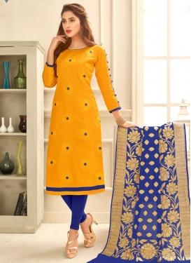 Chanderi Cotton Trendy Straight Salwar Kameez