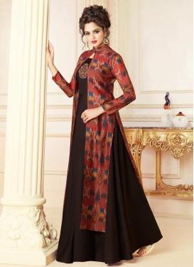 Chanderi Silk Beads Work Readymade Classic Gown