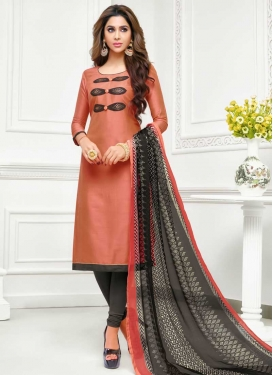 Chanderi Silk Churidar Salwar Suit