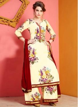 Chanderi Silk Palazzo Style Pakistani Salwar Suit