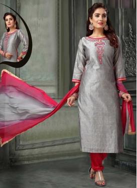 Chanderi Silk Readymade Churidar Suit