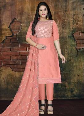 Chanderi Silk Trendy Pant Style Suit