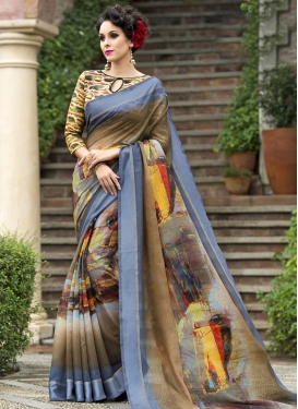 Chanderi Silk Trendy Saree