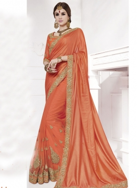 Charismatic Booti Work Designer Contemporary Saree
