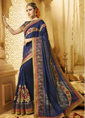 Charismatic  Embroidered Work Classic Designer Saree