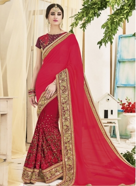 Charismatic Embroidered Work Faux Georgette Traditional Saree
