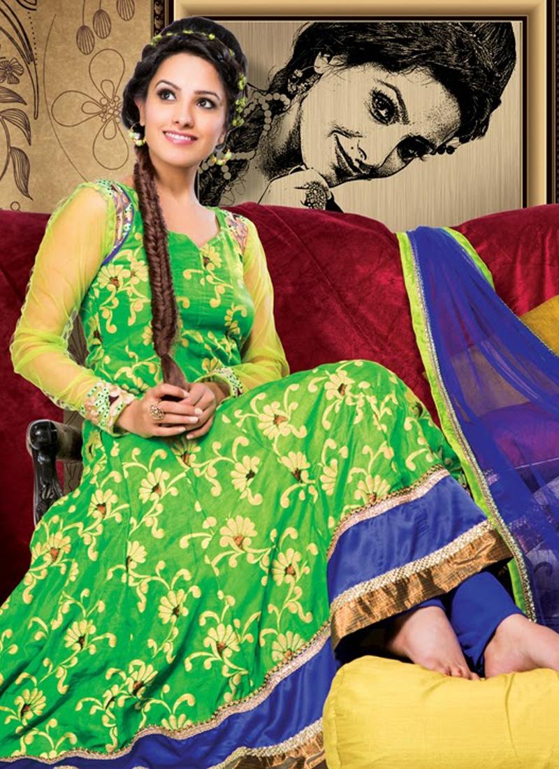 Charismatic Jacquard And Jute Silk Anarkali Suit