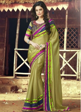 Charismatic Lace Work Party Wear Saree