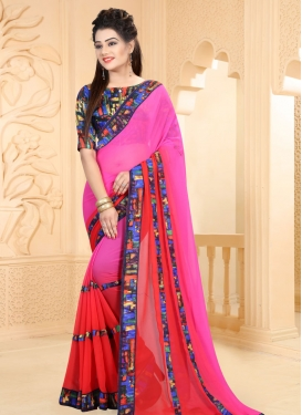 Charismatic Magenta and Red  Designer Contemporary Saree