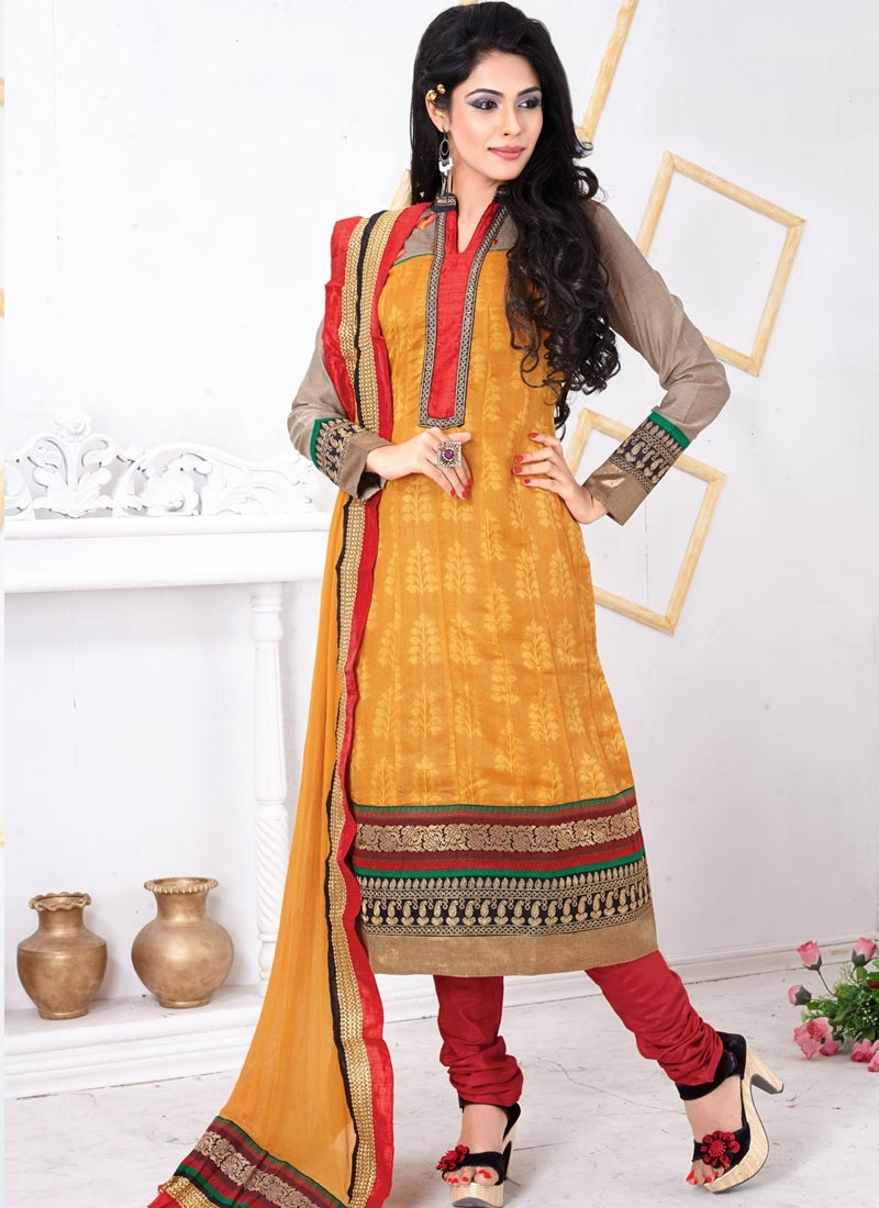 Charismatic Patch Border Work Casual Salwar Suit