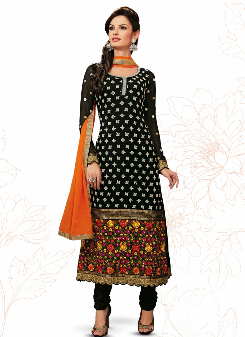 Charismatic Polka Dotted Party Wear Salwar Suit