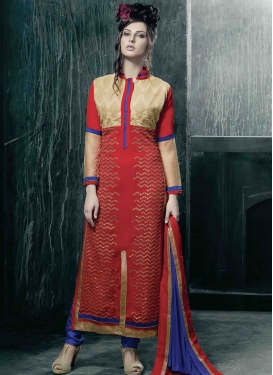 Charismatic Red Color Pakistani Salwar Kameez