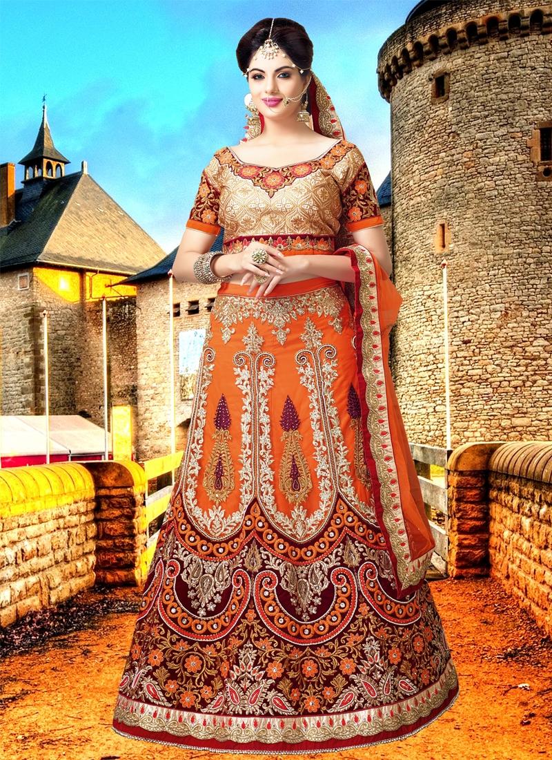 Charismatic Resham Work Bridal Lehenga Choli