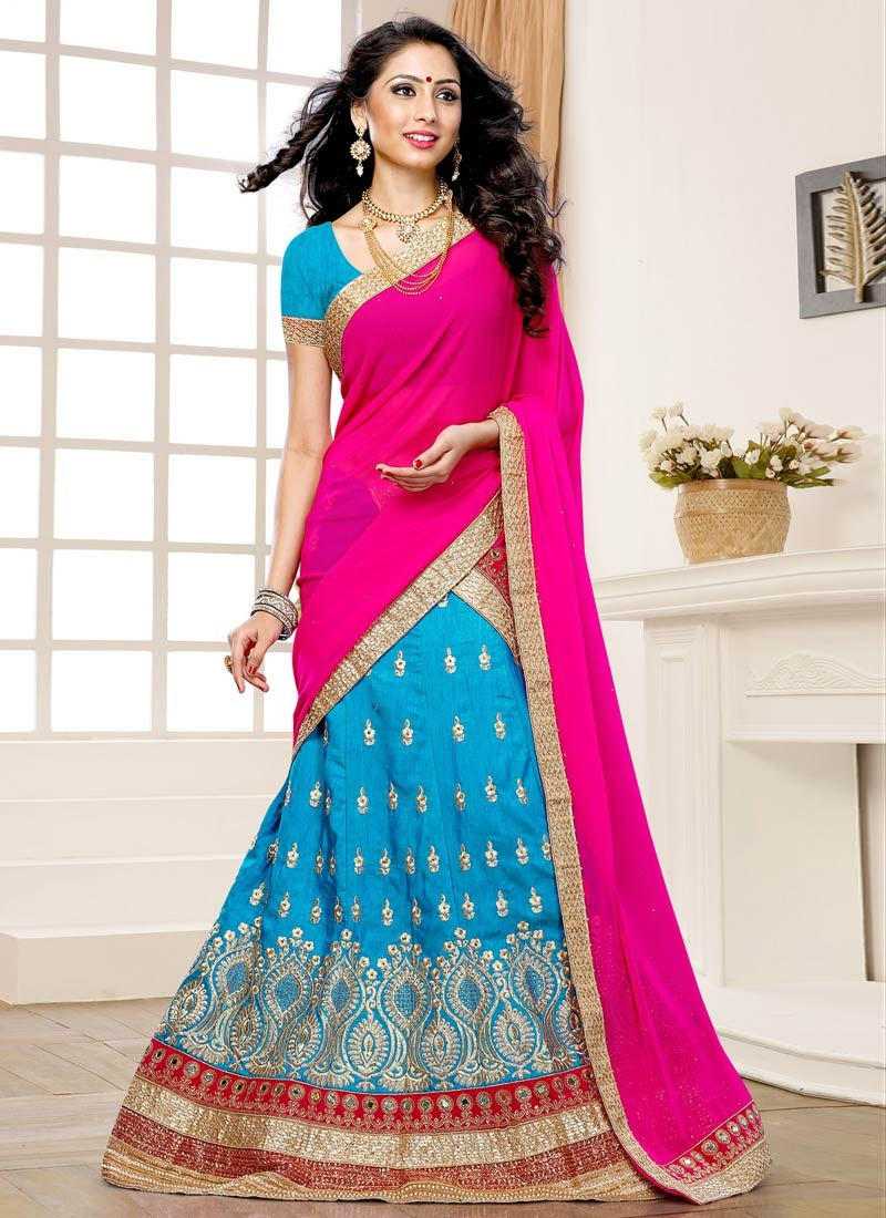 Charming Art Raw Silk Wedding Lehenga Choli